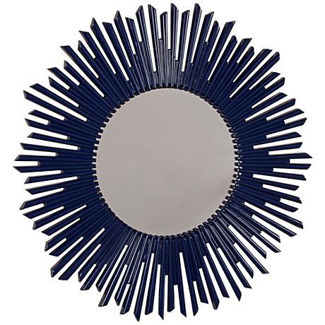 "Holland Blue 36"" Round Wall Mirror"
