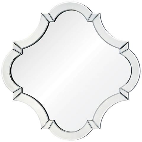 """Rutherford 28 1/2"""" x28 1/2"""" Quatrefoil Wall Mirror"""