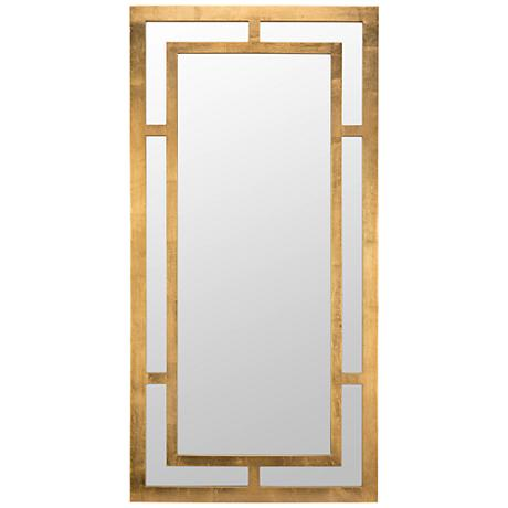 benedict gold 20 x 40 rectangle wall mirror 9w141 lamps plus. Black Bedroom Furniture Sets. Home Design Ideas