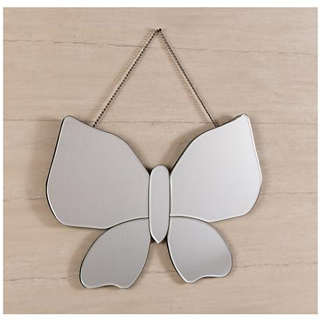"Olivia 23 1/2"" x 15 1/2"" Butterfly Wall Mirror"