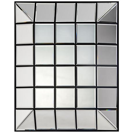 "Townsend Black 28"" x 33 1/2"" Rectangle Convex Wall Mirror"