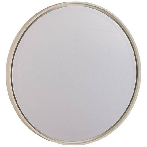 "Hadly White 30"" Round Wall Mirror"