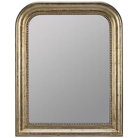 """Karly Champagne 30"""" x 38"""" Arched Rectangle Wall Mirror"""