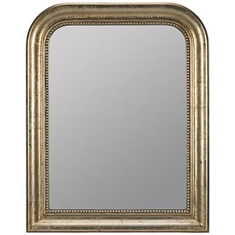 "Karly Champagne 30"" x 38"" Arched Rectangle Wall Mirror"