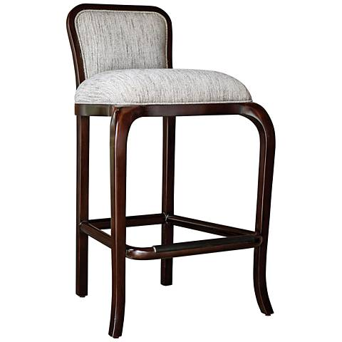 "Uttermost Tilley 31"" Clay Weave Fabric Wood Barstool"