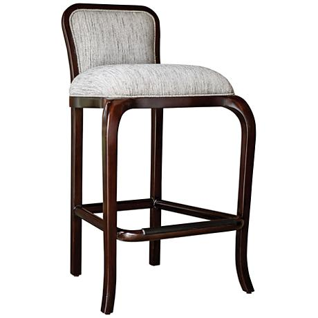 """Uttermost Tilley 31"""" Clay Weave Fabric Wood Barstool"""