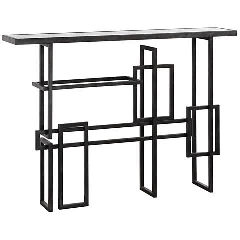 Uttermost Dane Industrial Steel Geometric Console Table