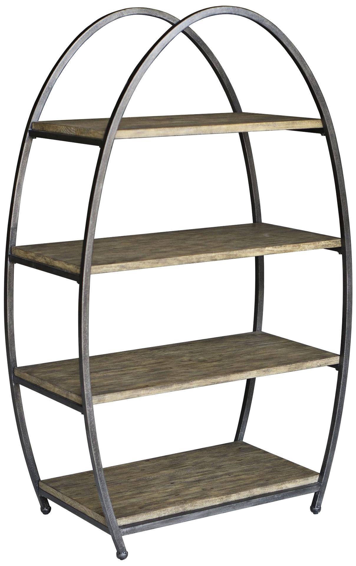 uttermost matisa textured steel egg shape 4 shelf etagere