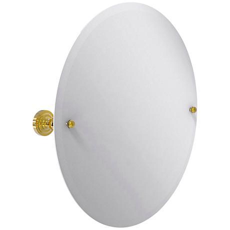 "Dottingham Polished Brass 22 3/4"" x 22"" Vanity Mirror"