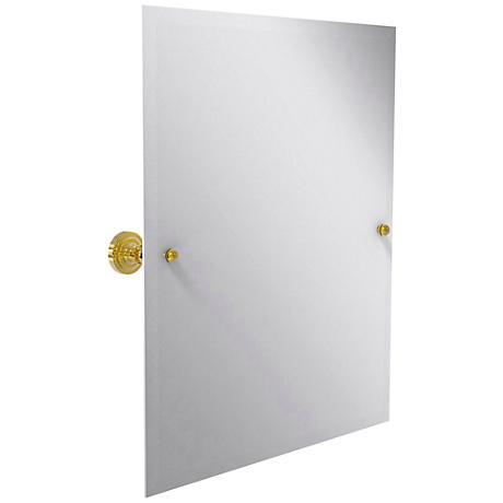"Dottingham Polished Brass 21 3/4"" x 25"" Vanity Mirror"