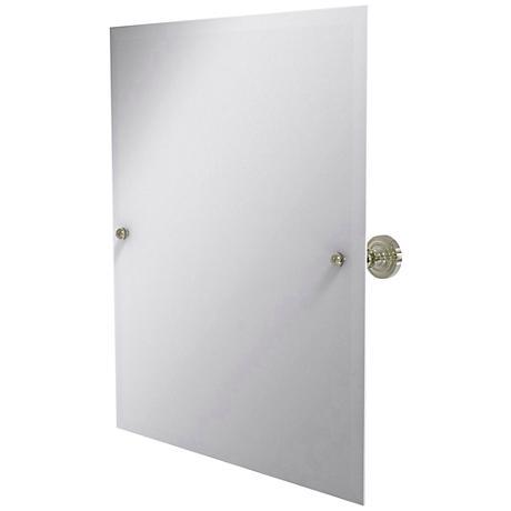 "Dottingham Polished Nickel 21 3/4"" x 25"" Vanity Mirror"