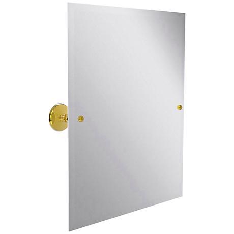 "Prestige Monte Carlo 21 3/4""x 25"" Polished Brass Mirror"