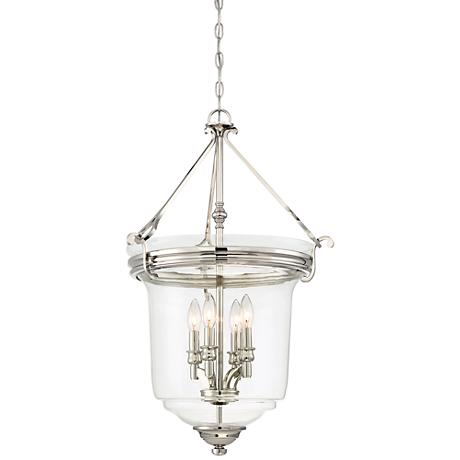 "Audrey's Point 19 3/4""W Nickel Convertible Pendant Light"