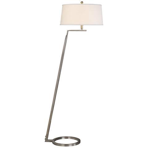 Uttermost Ordino Brushed Nickel Open-Ring Floor Lamp