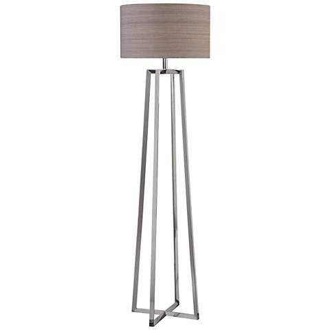 Uttermost Keokee Polished Nickel Triangular Floor Lamp