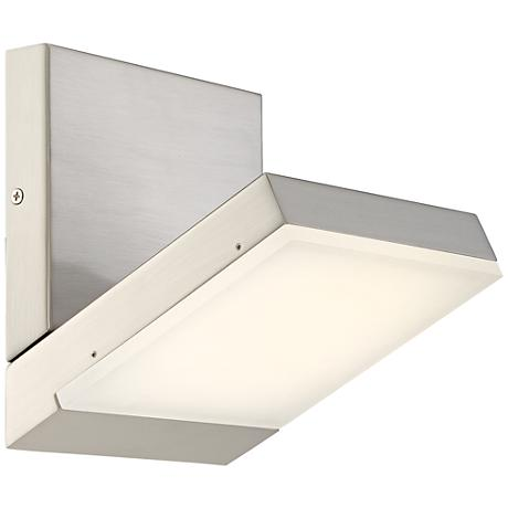 "George Kovacs Angle 6""W LED Brushed Nickel Wall Sconce"