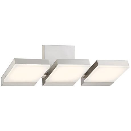 "George Kovacs Angle 21""W LED Brushed Nickel Bath Light"