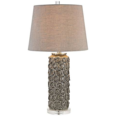 Goddin Contemporary Faceted Crystal Table Lamp 3m957