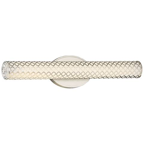 "George Kovacs Dots 24 1/2""W LED Brushed Nickel Bath Light"