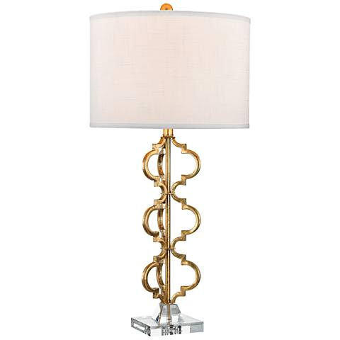 Dimond Castile Gold Leaf Stacked Curve Metal Table Lamp