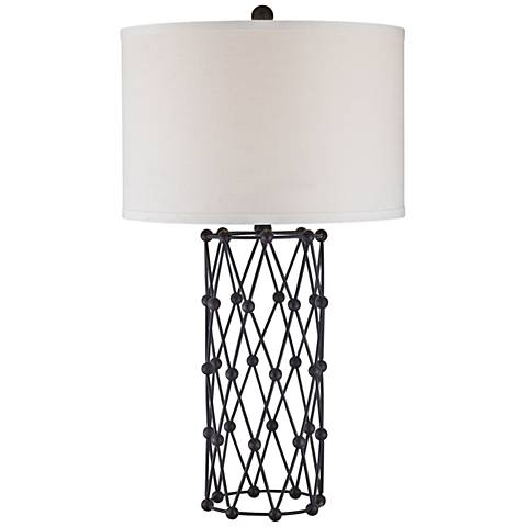 Dimond Exposition Bronze Diamond Ball Metal Table Lamp