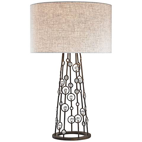Dimond Boheme Burnley Bronze and Clear Crystal Table Lamp