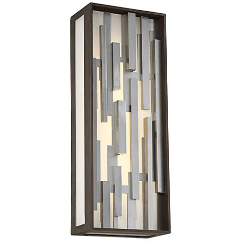 "George Kovacs Bars 17"" High LED Bronze Outdoor Wall Light"