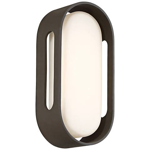 "George Kovacs Floating Oval 11""H LED Bronze Wall Sconce"