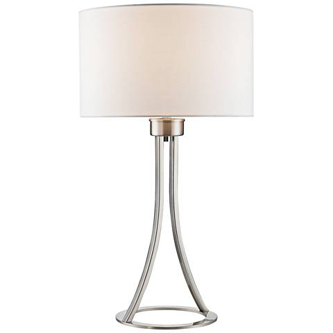 Dimond Alder Satin Nickel Metal Ring Table Lamp