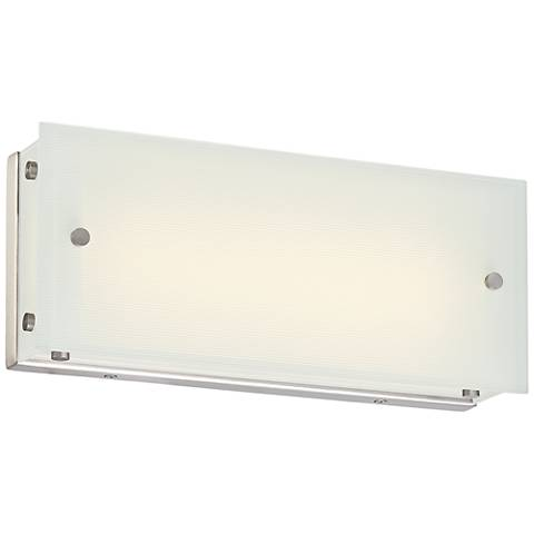 "George Kovacs Button 13""W LED Brushed Nickel Bath Light"