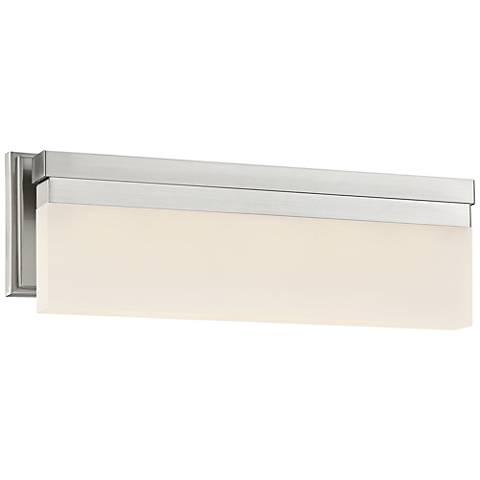 george kovacs skinny 17 wide led brushed nickel bath light - George Kovacs Bathroom Lighting