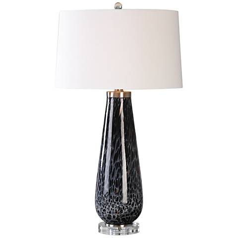Uttermost Marchiazza Painted Charcoal Glass Table Lamp