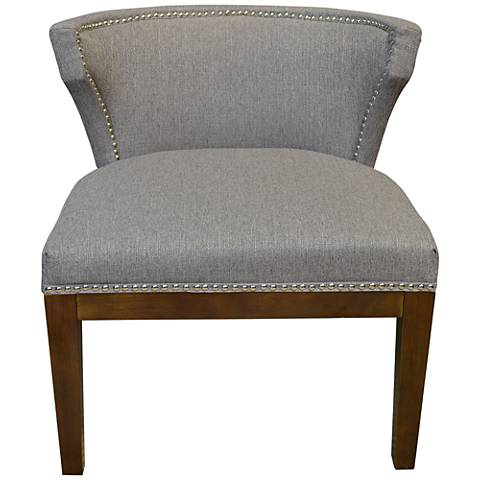 Kyra Taupe Stallion Linen Low-Back Accent Chair
