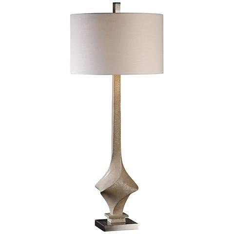 Uttermost Roseta Desert Sand Textured-Twist Table Lamp