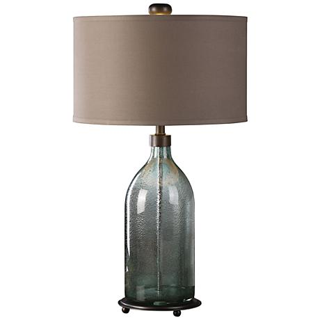 Uttermost Massana Olive Gray Seeded Glass Table Lamp 9W503 Lamps Plus