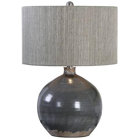 Uttermost Vardenis Charcoal Crackle Ceramic Table Lamp