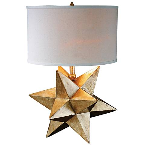 Uttermost Stella 3-D Gold Star Indoor-Outdoor Table Lamp