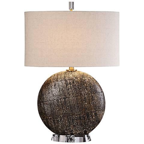 Uttermost Chalandri Rusty Bronze Ceramic Table Lamp