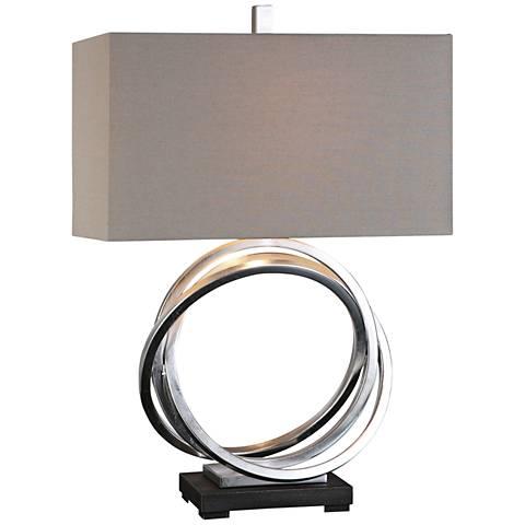 Uttermost Soroca Silver Leaf Metallic Rings Table Lamp