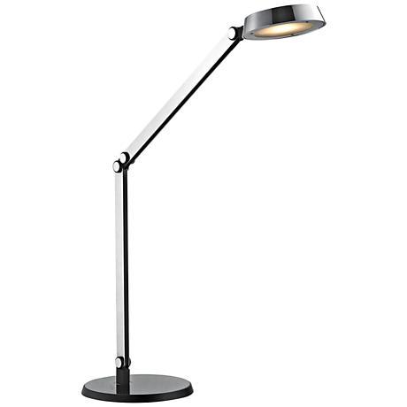 Dimond Mission Modern Disc Chrome and Black LED Task Lamp