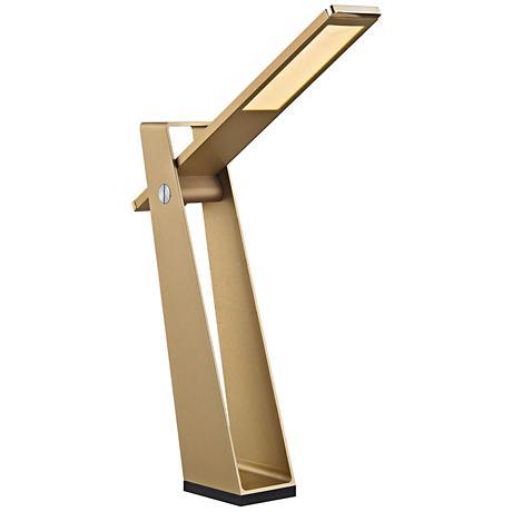 Dimond Flat Fold Gold Metal LED Desk Lamp