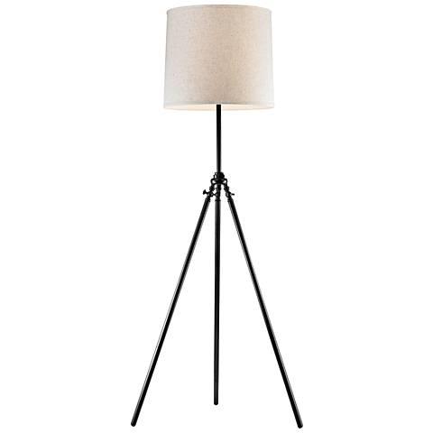 Dimond Palmer Stick Leg Dark Bronze Metal Tripod Floor Lamp