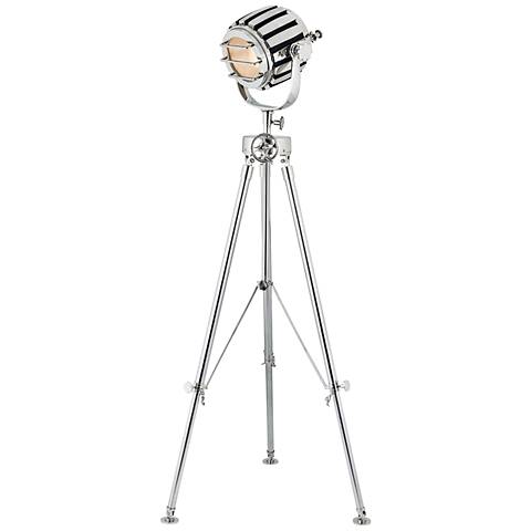 Dimond Studio Polished Nickel Metal Tripod Floor Lamp