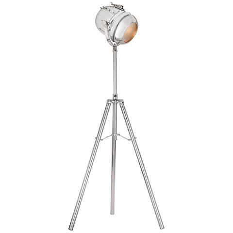 Dimond Glitz Nickel Metal Tripod Floor Lamp