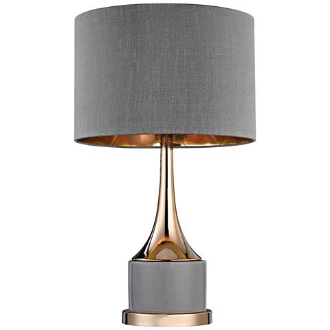 Dimond Mariposa Small Cone Neck Gray and Gold Table Lamp