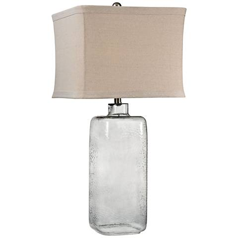 Dimond Franklin Hammered Gray Clear Glass Table Lamp