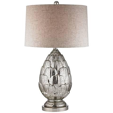 Camerford Mercury Artichoke Antique Mercury Glass Table Lamp