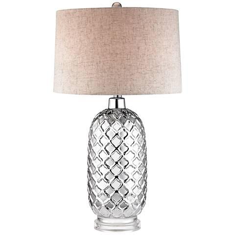 Dimond Clinton Quatrefoil Chrome Table Lamp