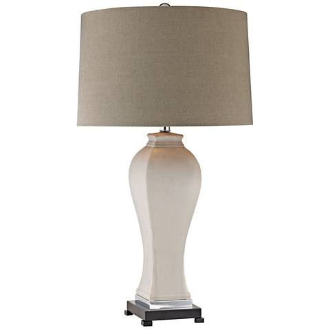 Dimond Dorrington Matte Gray Ceramic Table Lamp