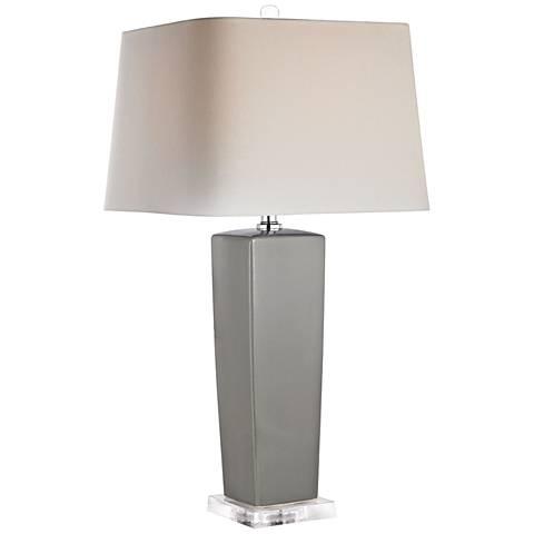 Dimond Riviera Tapered Gray Ceramic Table Lamp
